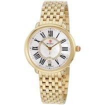Michele Serein Mop Dial Gold Stainless Steel Ladies Watch...
