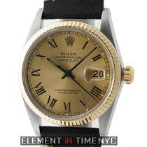Rolex Datejust Steel & Yellow Gold 36mm Champagne Roman...