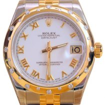 Rolex Datejust 178343 Ladies 31mm White Roman Yellow Gold...