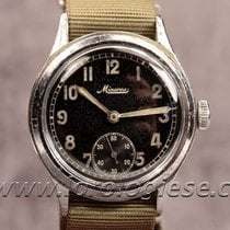Minerva D.h. Dienstuhr Heere German Military Service Steel Watch
