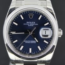Rolex Oyster Perpetual Date Blue Dial (B&P/2012)