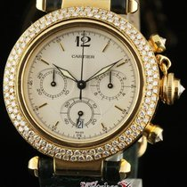 Cartier Pasha Chronograph 38mm Yellow Gold Diamonds Box/papers...