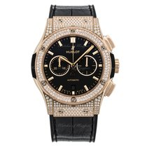Hublot Classic Fusion King Gold Pave Chronograph 42mm