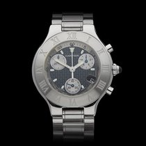 Cartier Chronoscaph 21 Chronograph Stainless Steel Unisex 2424