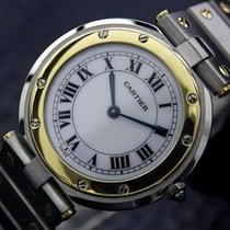 Cartier Santos 18k Gold And Ss Dress Watch C2000 1255