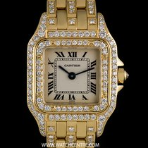 Cartier 18k Yellow Gold Diamond Set Panthere Ladies Wristwatch