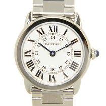 Cartier Ronde Solo De Cartier Stainless Steel White Quartz...