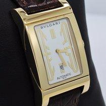 宝格丽 (Bulgari) Rettangolo 18k Yellow Gold On Leather Automatic...