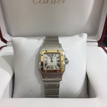 Cartier Santos Steel and Gold Ladies Concealed Clasp Mint