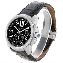Cartier Calibre Steel Automatic Black Dial Mens Watch W7100041