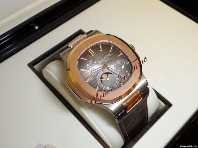 Patek Philippe 5712GR EXTREMELY RARE NAUTILUS ROSE & WHITE GOLD LIMITED ED.
