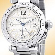 "Cartier ""35mm Pasha GMT Dual Time""."