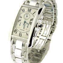 Cartier Tank Americaine Chronoflex Quartz in White Gold