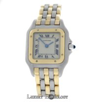 Cartier Mint Ladies  Panthere 166921 Three Row 18K Gold Steel...
