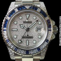 Rolex 116759sa Gmt Master II 18k White Gold Baguette Diamonds/...