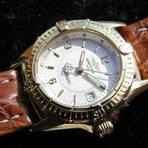 Breitling Callistino Gelb Gold 750 18k Weisses Zifferblatt K...