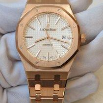 Audemars Piguet Royal Oak 41 silver dial in full rose gold,...
