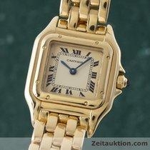 Cartier Lady 18k (0,750) Gelb Gold Panthere Damenuhr Goldband