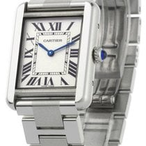 Cartier Tank Solo Rectangular Small Silver Dial Steel Women&#3...