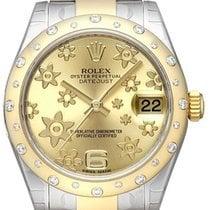 Rolex Datejust 31 Gelbgold Diamant Lünette 178343 Champagner...