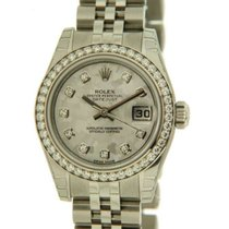 Rolex Datejust Lady 179384 In Steel, Diamonds And Gold Crystel...