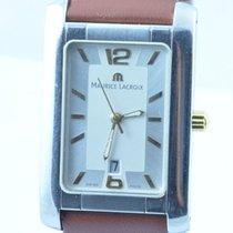 Maurice Lacroix Miros Herren Uhr 34mm Stahl Quartz Carree...
