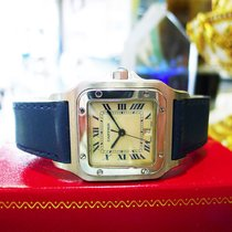 Cartier Santos Stainless Steel Quartz Roman Numeral Watch