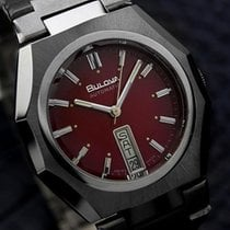 Bulova Double Date Automatic Red Dial Watch C1980s (1316)