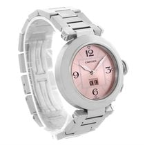 Cartier Pasha Big Date Pink Dial Medium Automatic Steel Watch...