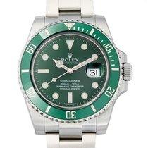 Rolex Submariner Steel Ceramic Green Dial Watch 40mm NEW