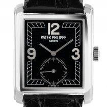 Patek Philippe Gondolo 18kt Weißgold Handaufzug Armband Leder...