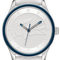 Lacoste Victoria Steel Womens Fashion Watch White Strap Blue...