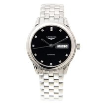 Longines Flagship Stainless Steel Black Automatic L4.799.4.57.6