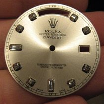 Rolex Day Date II 2 Silver Diamond Factory Dial 218239 218206...