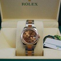 Rolex DateJust TuTone 18kt RG/SS  Floral Motif Dial 178241