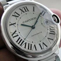 Cartier Ballon Bleu W69012z4 Large Steel Bracelet Roman Dial...