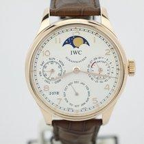 IWC Portuguese 18k Rose Gold Perpetual Calendar 7 Day Iw502306...