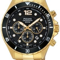 Pulsar PT3720X1 Chronograph 45mm gold 10ATM