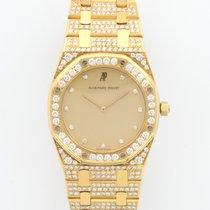 Audemars Piguet Yellow Gold Full Diamond Royal Oak Bracelet Watch