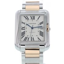 Cartier Men's Cartier Tank Anglaise 18K Rose Gold & SS...