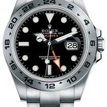 Rolex Explorer II Stainless Steel Black Index Dial 24hr Bezel...