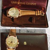 Universal Genève Uni-compax Oro Rosa 18kt D'epoca Con...