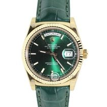 Rolex 118138 Day-Date Green Dial Yellow Gold