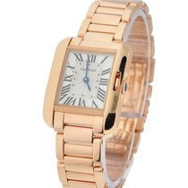 Cartier W5310013 Tank Anglaise Small - Rose Gold on Rose Gold...