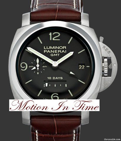 Panerai PAM 270 Luminor 1950 10 Days GMT Automatic 44mm Limited Ed.