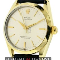 Rolex Oyster Perpetual 14k Yellow Gold Shell 34mm Silver Dial...