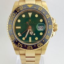 Rolex GMT Master II 18k Yellow and Steel RARE Green Dial MINT