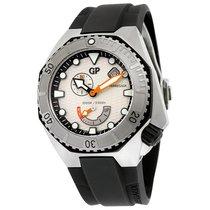 Girard Perregaux Sea Hawk Silver Dial Black Rubber Automatic...