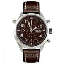 IWC Pilot Brown Dial Automatic Men's Chronograph Watch