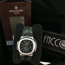 Patek Philippe 5990/1A Steel Nautilus Chronograph Black Dial GMT